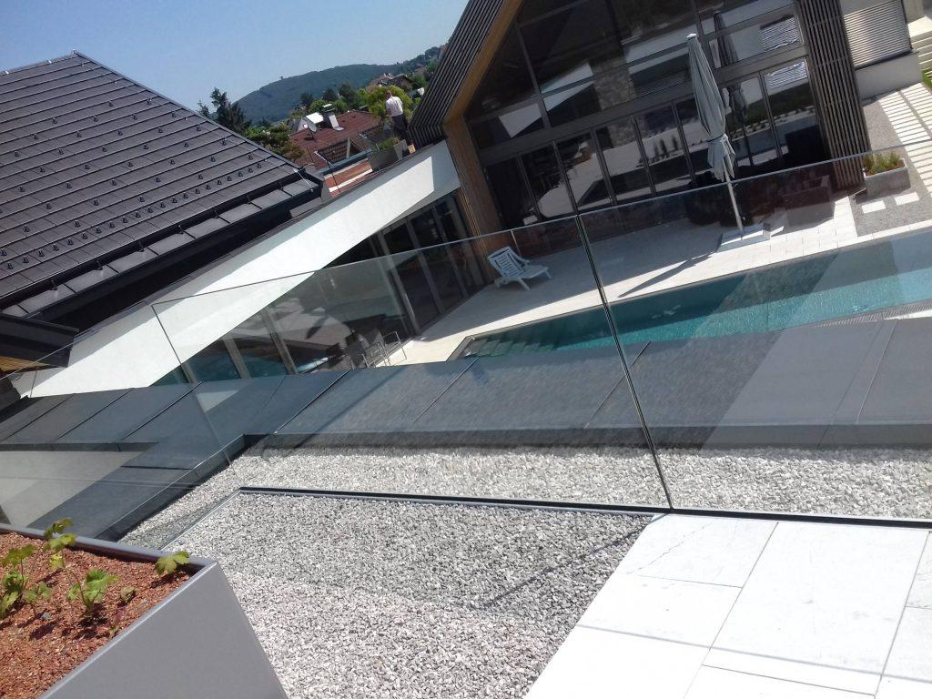 Dachterrasse Glasgeländer